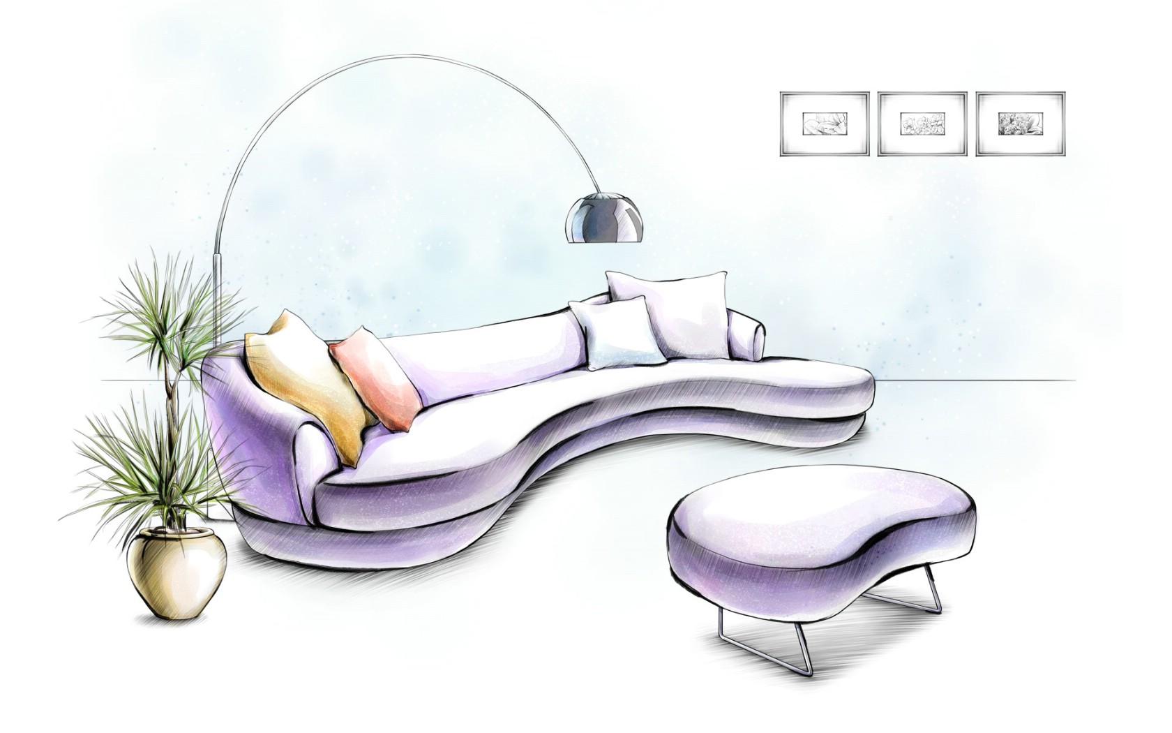 How To Draw Furniture Interior Design ~ 组合家具手绘图 动手网