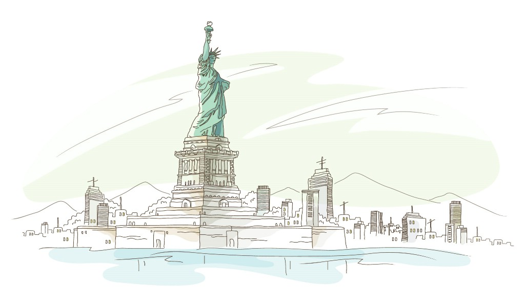 壁纸1024×600简笔城市风光 2 20壁纸 简笔城市风光壁纸图片绘画壁纸绘画图片素材桌面壁纸