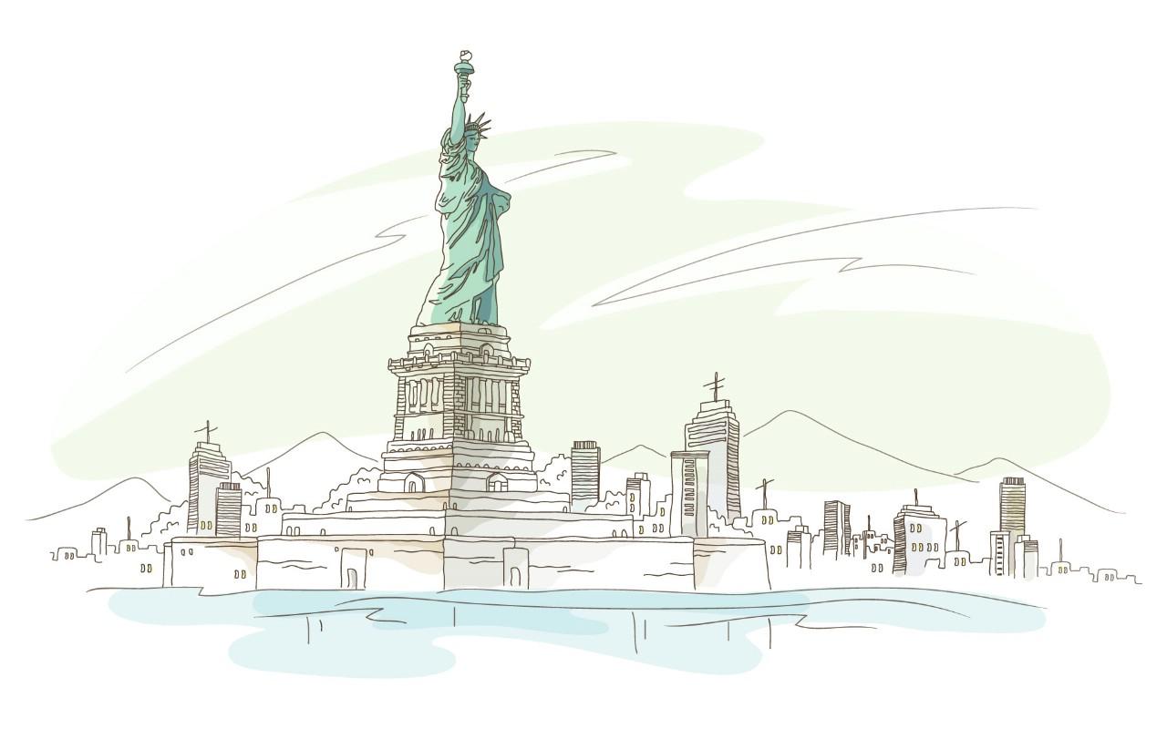 壁纸1280×800简笔城市风光 2 20壁纸 简笔城市风光壁纸图片绘画壁纸绘画图片素材桌面壁纸