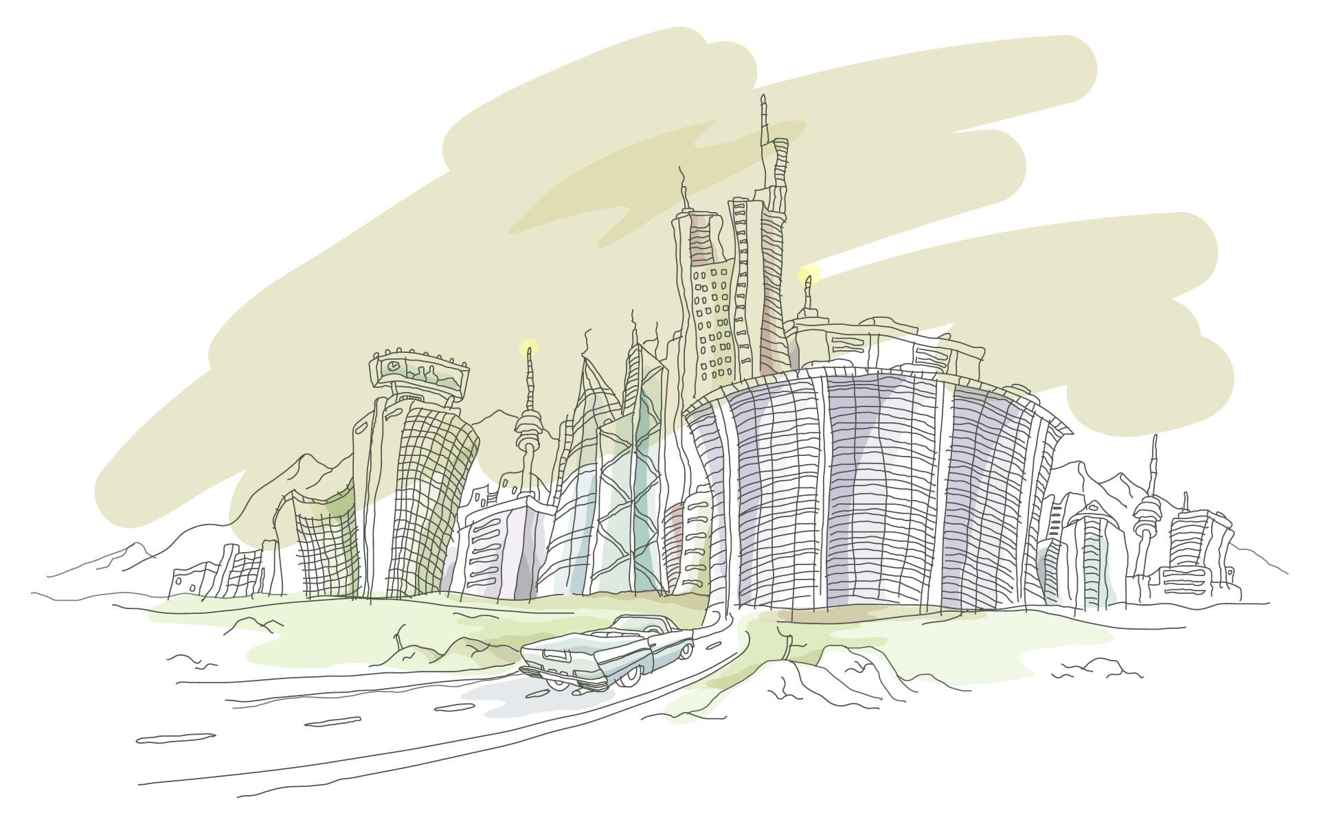壁纸1920×1200简笔城市风光 2 9壁纸 简笔城市风光壁纸图片绘画壁纸绘画图片素材桌面壁纸