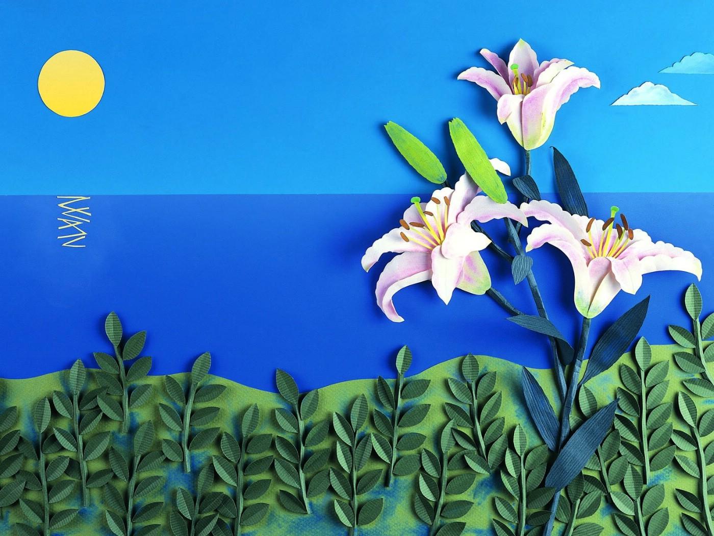 1050剪纸贴画 18壁纸,剪纸贴画壁纸图片 绘画壁纸 绘画图片素材