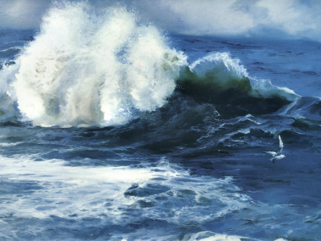 壁纸1024 215 768手绘海浪 1 17壁纸 手绘其他 手绘海浪 第一辑壁纸图片 绘画壁纸 绘画图片素材 桌面壁纸