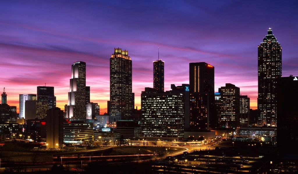 壁纸1024×600城市夜景 8 1壁纸 城市夜景壁纸图片建筑壁纸建筑图片素材桌面壁纸