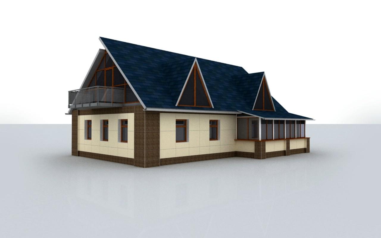 3d房屋 建筑蓝图壁纸