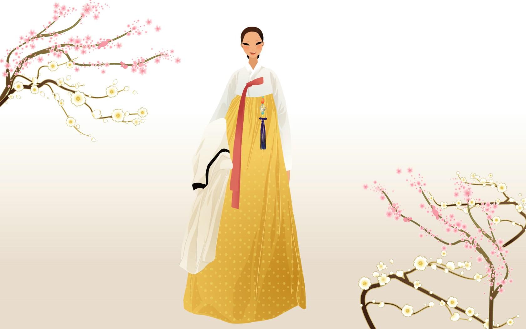 民族之美 之朝鲜族|绘画习作|插画|长毛的布丁图片