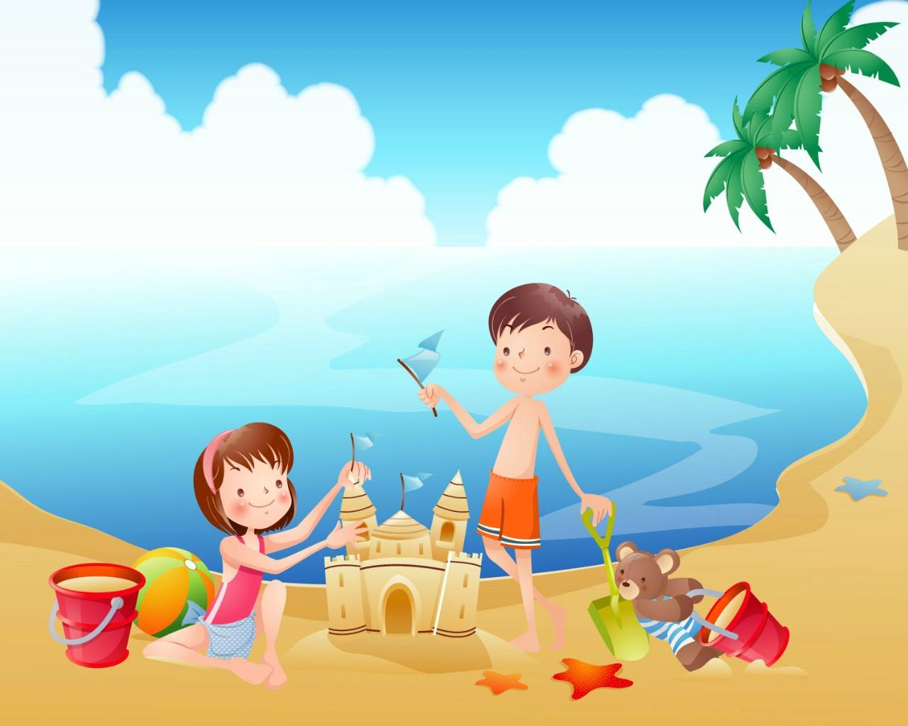 壁纸1280×1024快乐暑假 2 8壁纸,快乐暑假壁纸图片-矢量