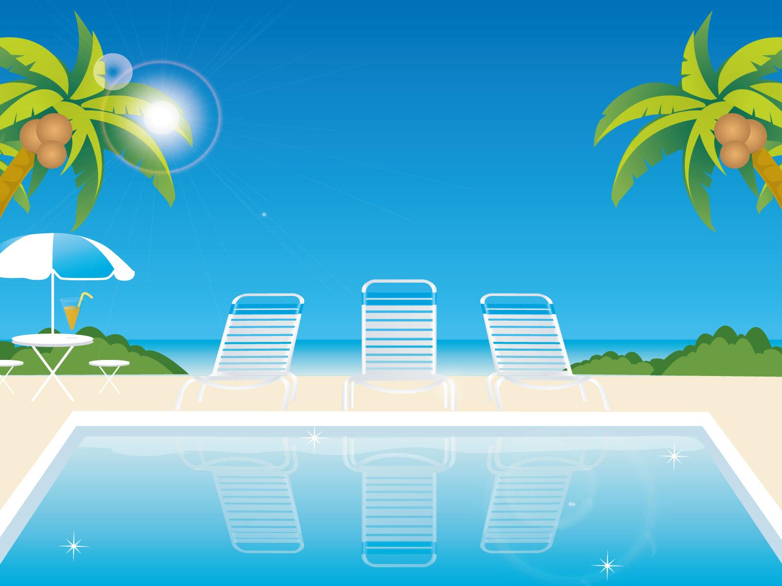壁纸1600×1200矢量夏日海滩 1 20壁纸 矢量风光 矢量夏日海滩 第一辑壁纸图片矢量壁纸矢量图片素材桌面壁纸