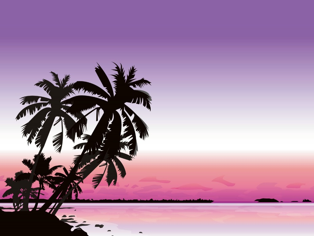 壁纸1024×768矢量夏日海滩 1 14壁纸 矢量风光 矢量夏日海滩 第一辑壁纸图片矢量壁纸矢量图片素材桌面壁纸