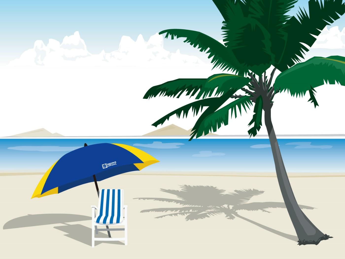 壁纸1400×1050矢量夏日海滩 1 13壁纸 矢量风光 矢量夏日海滩 第一辑壁纸图片矢量壁纸矢量图片素材桌面壁纸