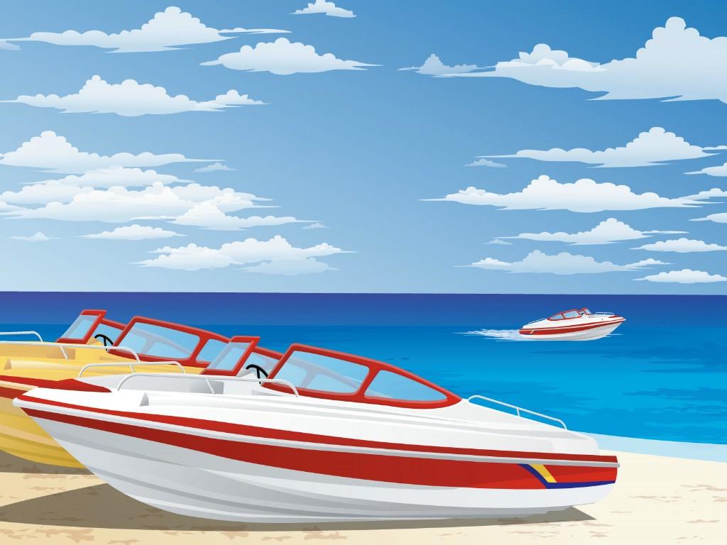 壁纸1024×768矢量夏日海滩 1 11壁纸 矢量风光 矢量夏日海滩 第一辑壁纸图片矢量壁纸矢量图片素材桌面壁纸