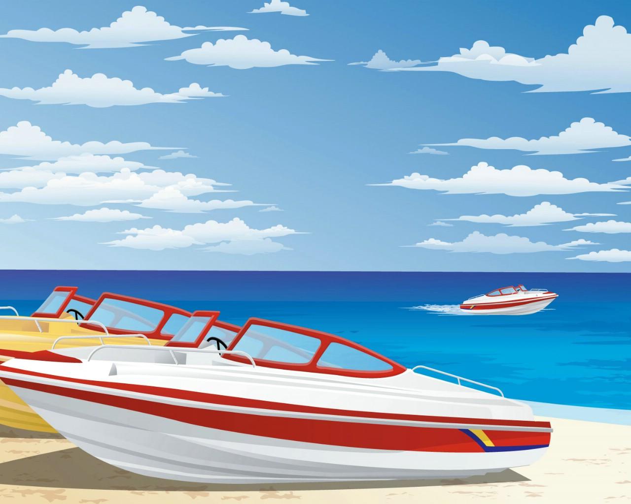 壁纸1280×1024矢量夏日海滩 1 11壁纸 矢量风光 矢量夏日海滩 第一辑壁纸图片矢量壁纸矢量图片素材桌面壁纸