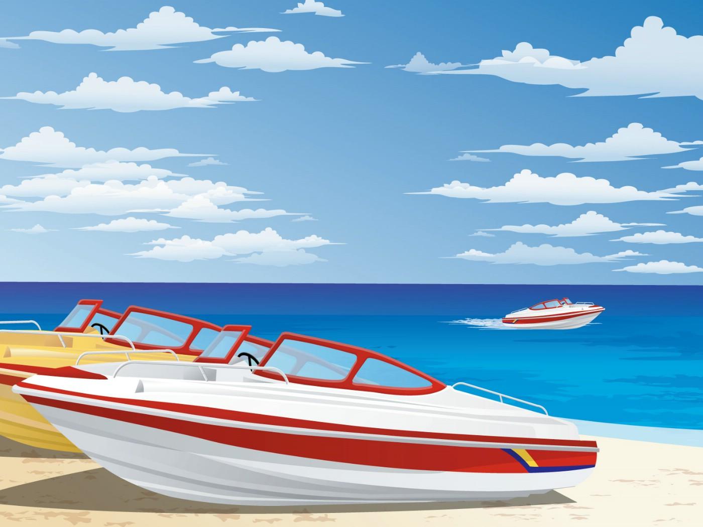 壁纸1400×1050矢量夏日海滩 1 11壁纸 矢量风光 矢量夏日海滩 第一辑壁纸图片矢量壁纸矢量图片素材桌面壁纸