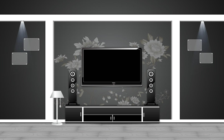 电视墙背景.jpg 经典室内装修壁纸