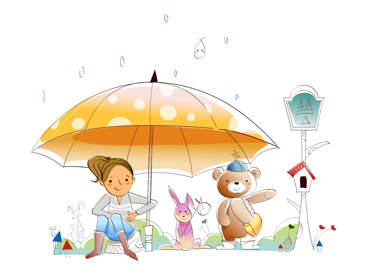 伞的简笔画图片