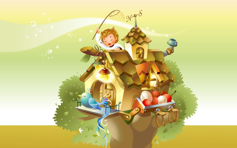 壁纸1440×900矢量童话 1 9壁纸 矢量卡通 矢量童话 第一辑壁纸图片矢量壁纸矢量图片素材桌面壁纸