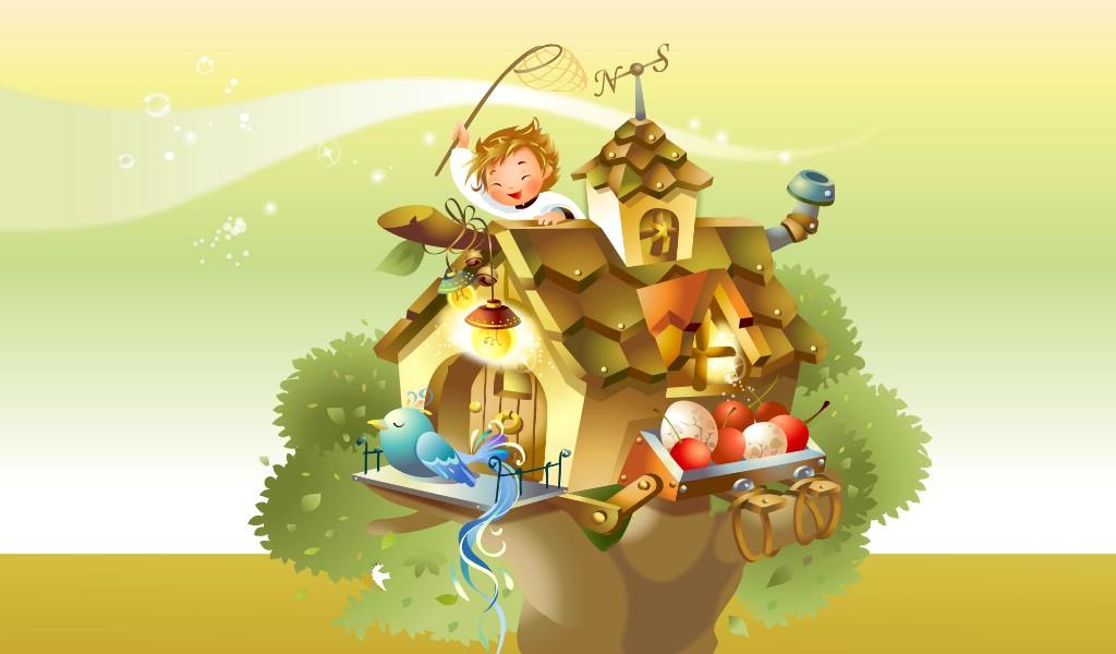 壁纸1024×600矢量童话 1 9壁纸 矢量卡通 矢量童话 第一辑壁纸图片矢量壁纸矢量图片素材桌面壁纸