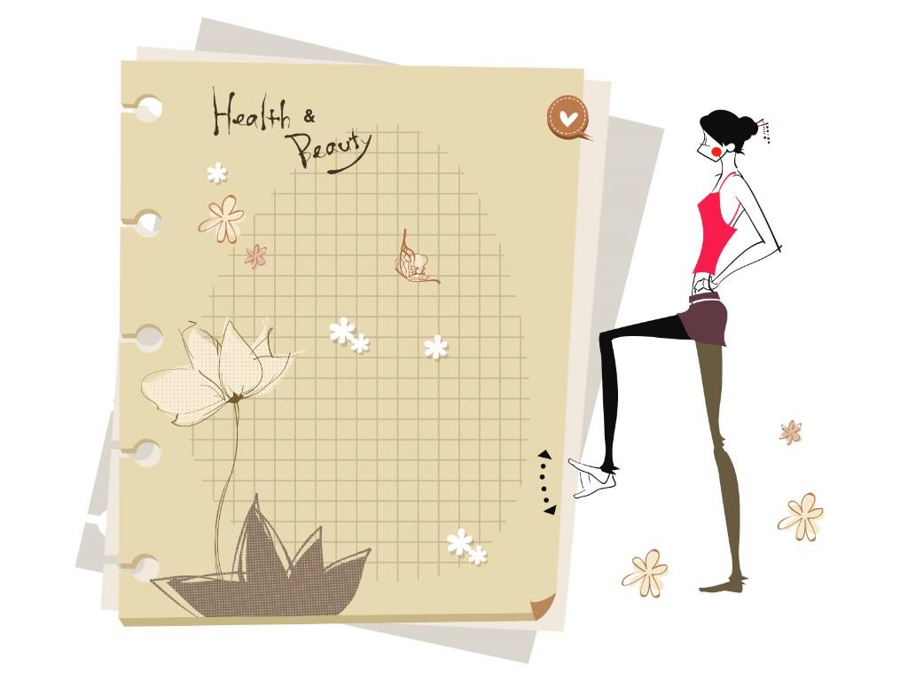 壁纸1024×768矢量运动女孩 1 21壁纸 矢量女性 矢量运动女孩 第一辑壁纸图片矢量壁纸矢量图片素材桌面壁纸