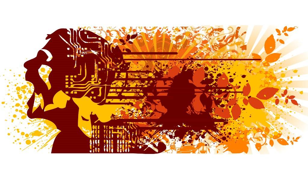 壁纸1024×600矢量剪影人物 1 4壁纸 矢量其他 矢量剪影人物 第一辑壁纸图片矢量壁纸矢量图片素材桌面壁纸