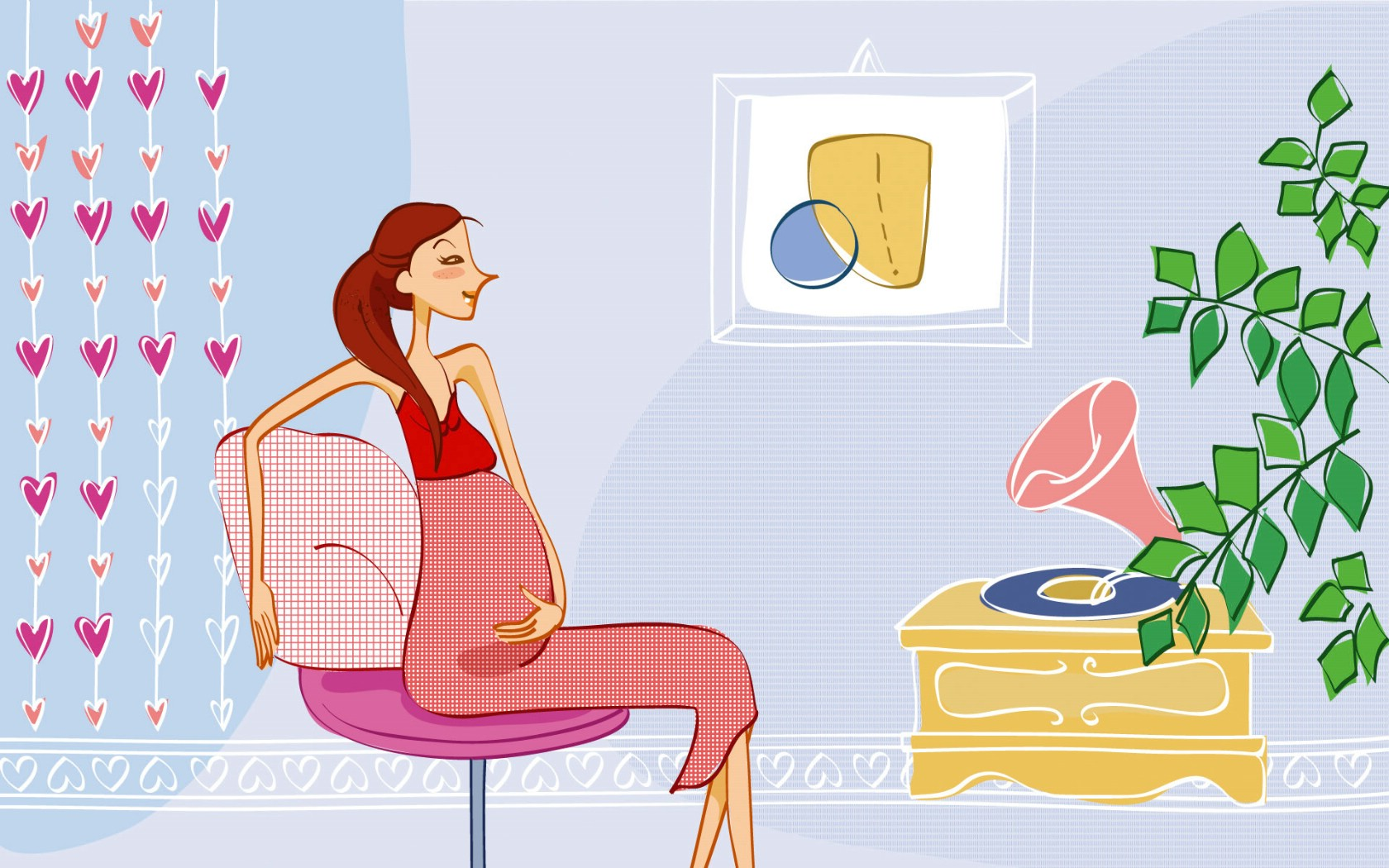 壁纸1680×1050矢量时尚女孩 12 16壁纸 矢量时尚女孩壁纸图片矢量壁纸矢量图片素材桌面壁纸