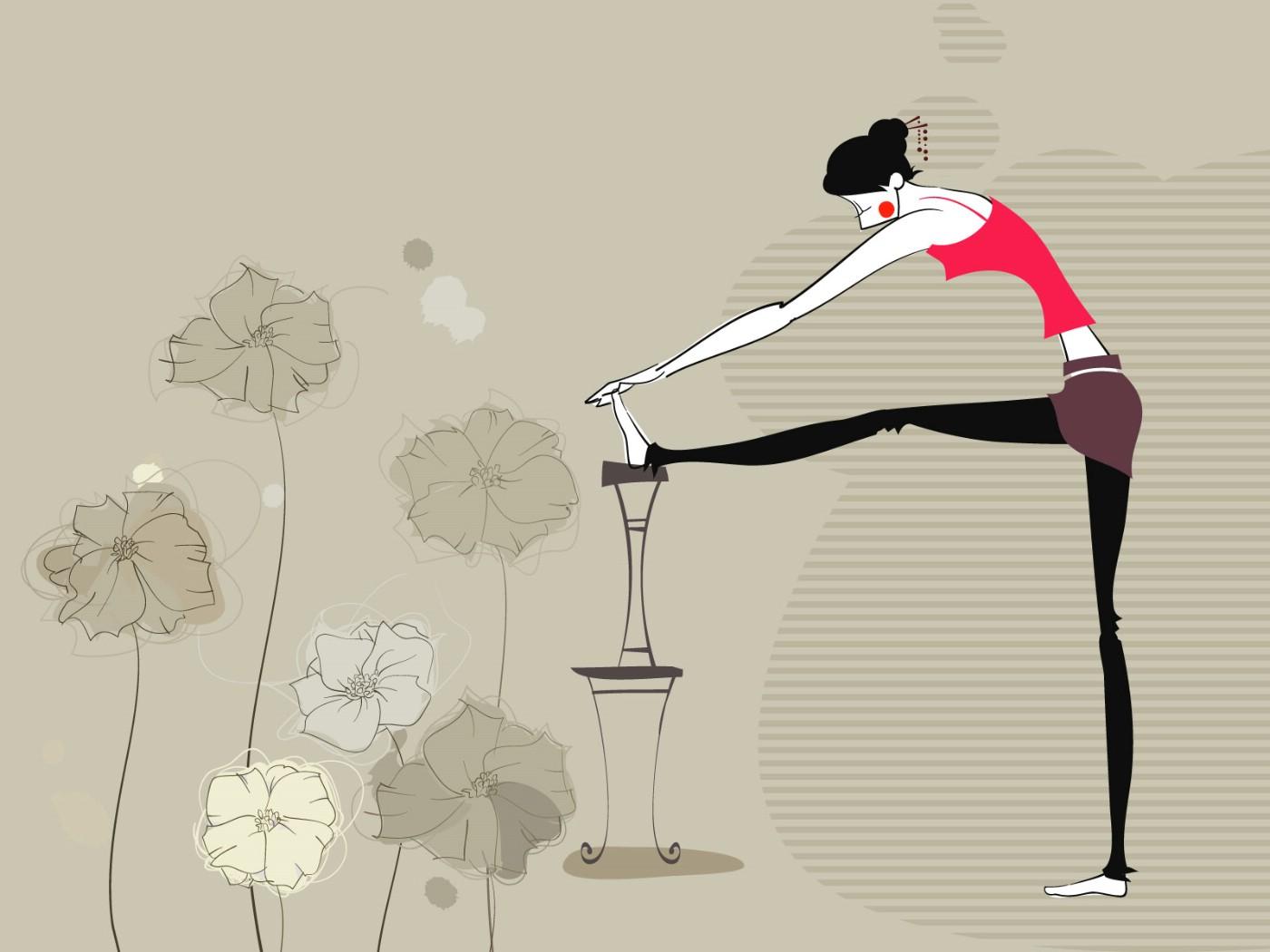 壁纸1400×1050矢量运动女孩 2 11壁纸 矢量运动女孩壁纸图片矢量壁纸矢量图片素材桌面壁纸