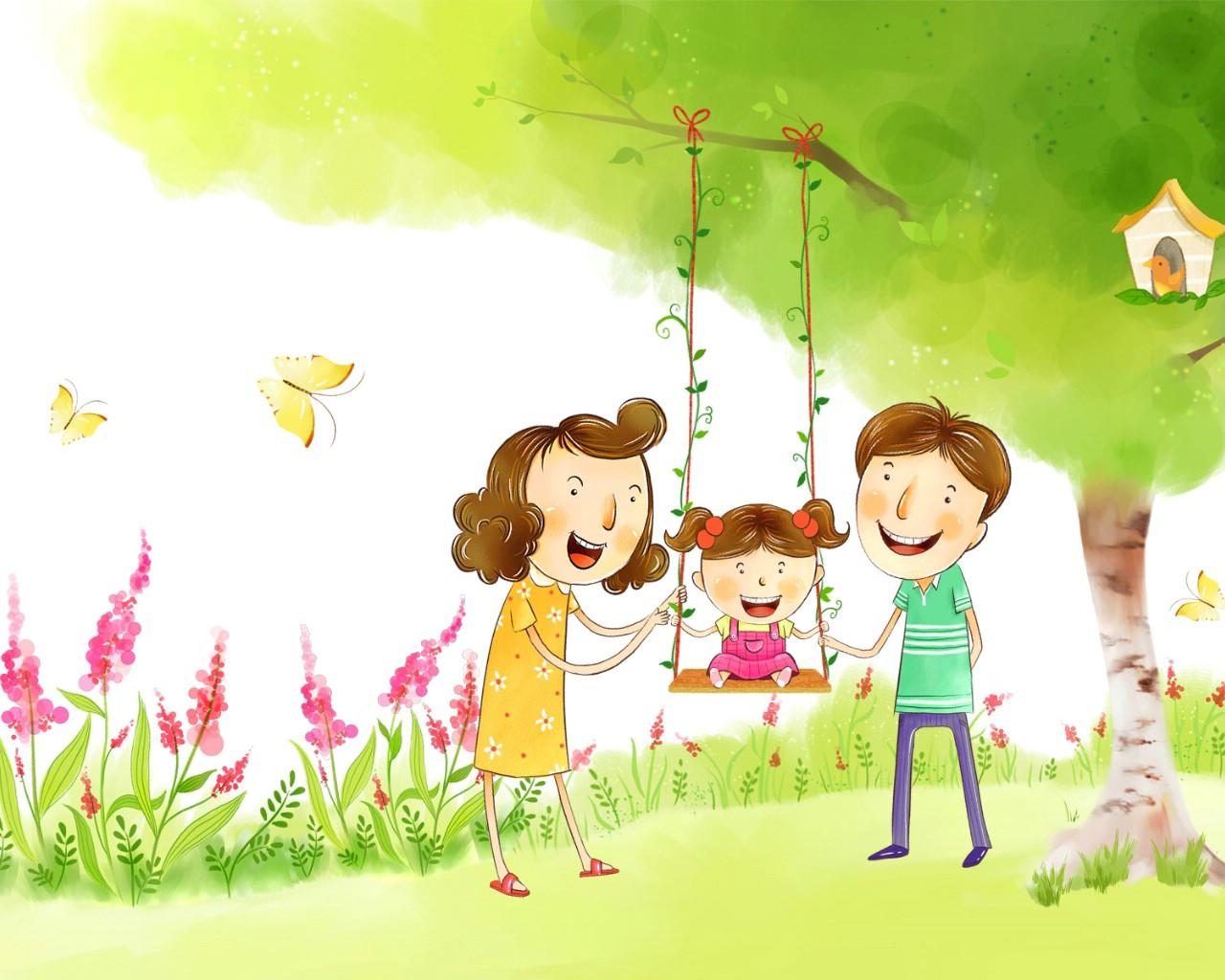 壁纸1280×1024幸福家庭 2 16壁纸 幸福家庭壁纸图片矢量