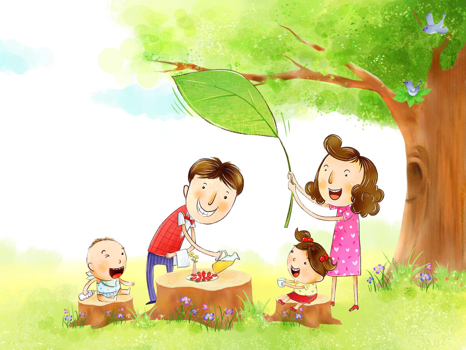壁纸1600×1200幸福家庭 2 15壁纸 幸福家庭壁纸图片矢量