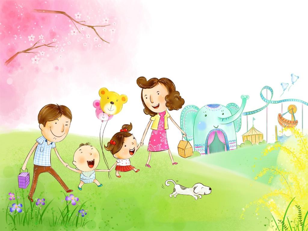 壁纸1024×768幸福家庭 2 2壁纸 幸福家庭壁纸图片矢量壁纸矢量图片素材桌面壁纸