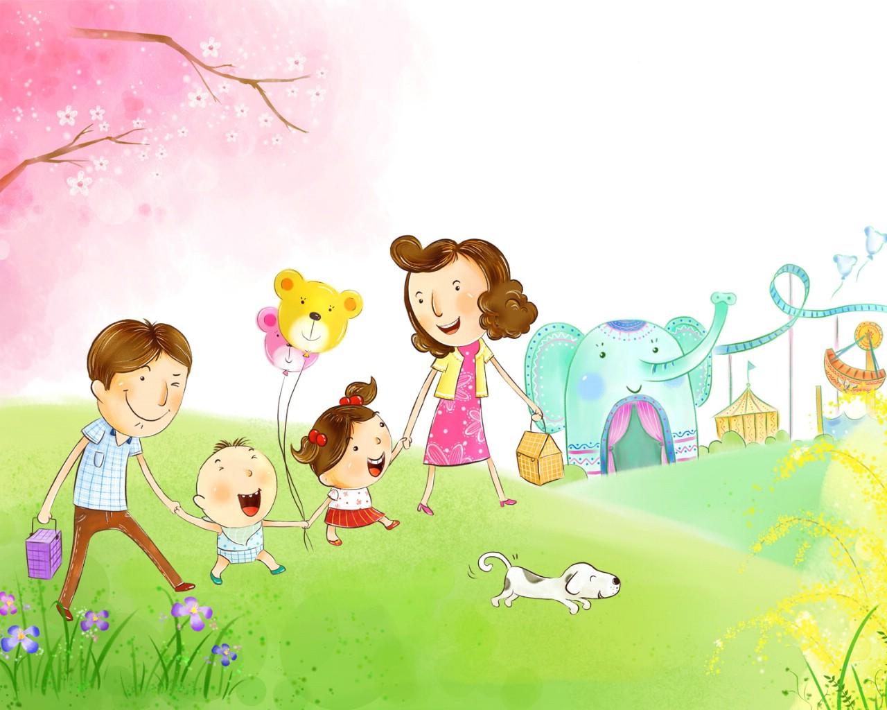 壁纸1280×1024幸福家庭 2 2壁纸 幸福家庭壁纸图片矢量壁纸矢量图片素材桌面壁纸
